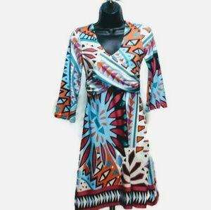 Tracy Negoshian Graphic Print Dress